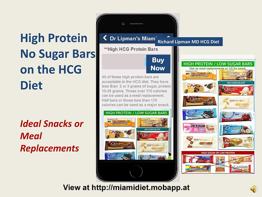 High protein low carb hcg bars for hcg diet