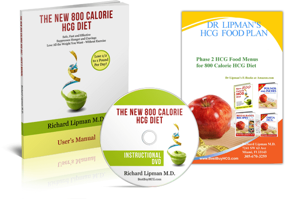 New 800 Calorie HCG Diet User's Manual Kit