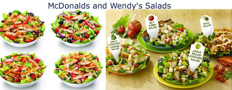 McDonald's and Wendy's Salads