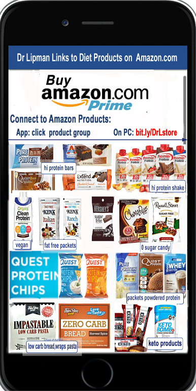 Low carb products from Amazon
