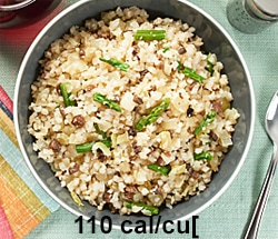 Riced cauliflower rossito with muschroomslow carb