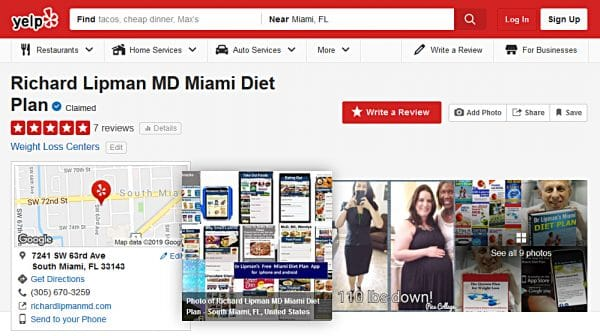 Yelp Reviews and Ratings of Dr Richard Lipman MD
